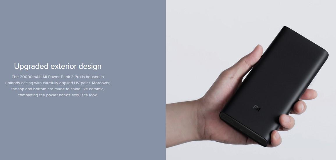 Xiaomi 20000mAh Mi Power Bank 3 Pro 45W Max Output Dual-way Quick Charge - Black