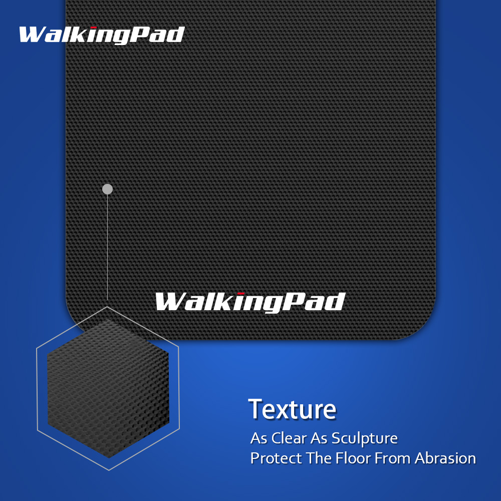 WalkingPad Mat For Treadmill Protect Floor Anti-skid Quiet Exercise Workout Eliminate Static Electricity For Fitness Equipment - Black