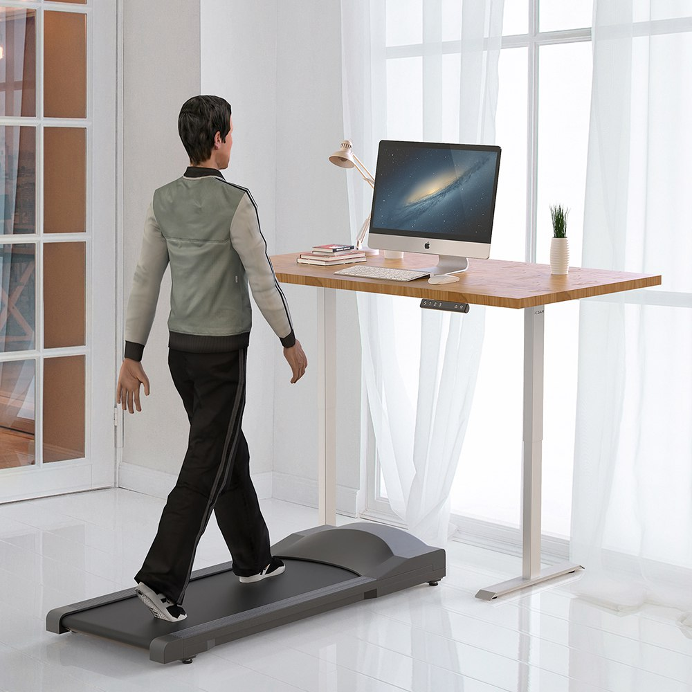 Acgam Electric Stand Up Desk Frame Workstation, Ergonomic Standing Height Adjustable Base White (Frame Only)