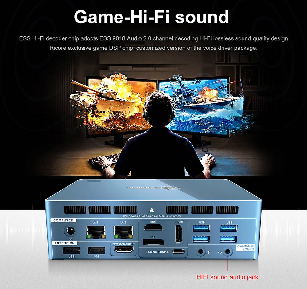 Beelink GT-R Pro MINI PC AMD Ryzen5 3550H Quad Core 8GB RAM 256GB SSD 1TB HDD WIFI6 Type-C same screen Game HI-FI