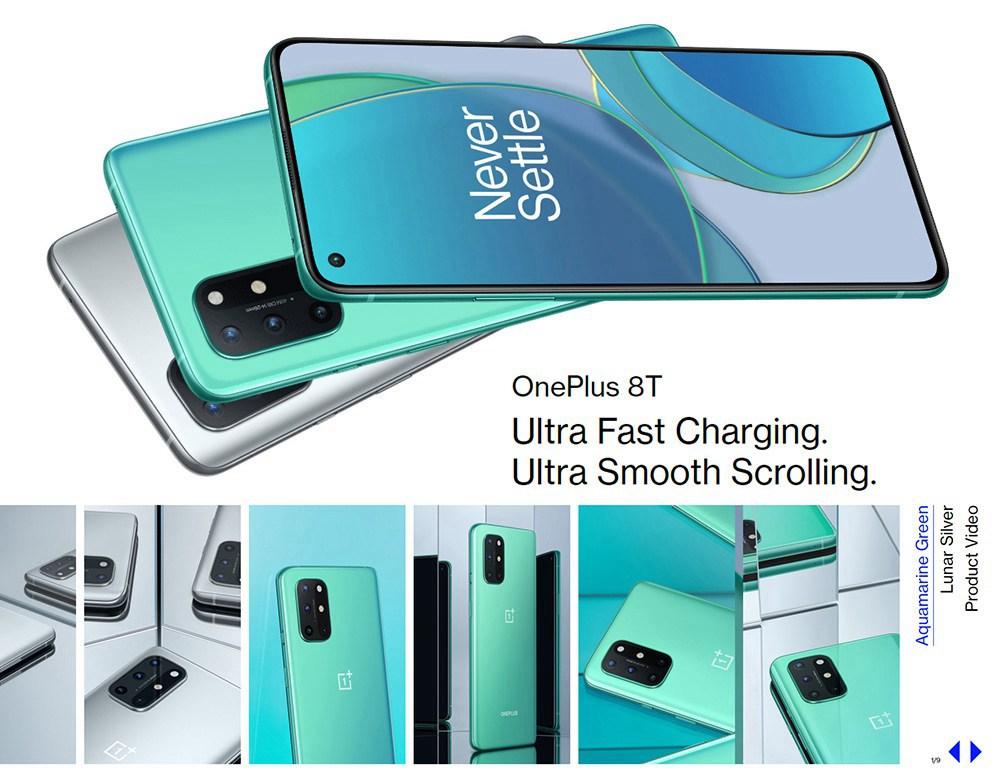 OnePlus 8T Global ROM 5G Smartphone 6.55 ιντσών Qualcomm Snapdragon 865 Octa Core 12GB RAM 256 GB ROM Oxygen OS Dual SIM Dual Standby - Lunar Silver