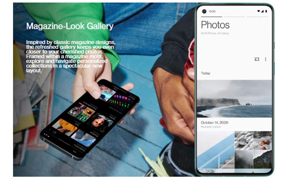 OnePlus 8T Global ROM 5G Smartphone 6.55 pouces Qualcomm Snapdragon 865 Octa Core 8 Go de RAM 128 Go ROM Oxygen OS Dual SIM Dual Standby - Vert aigue-marine