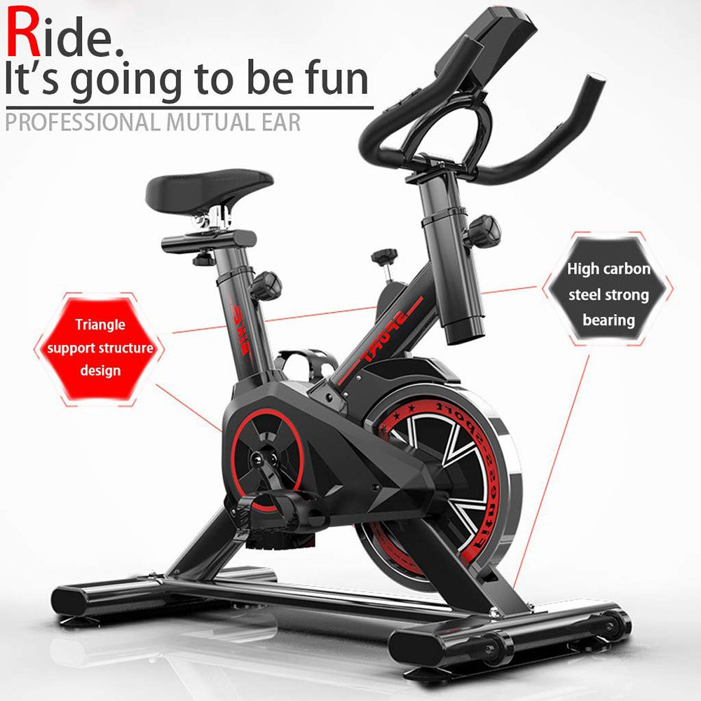 Indoor Home Use Silent Station Spinning Bike Max Load 330 lbs