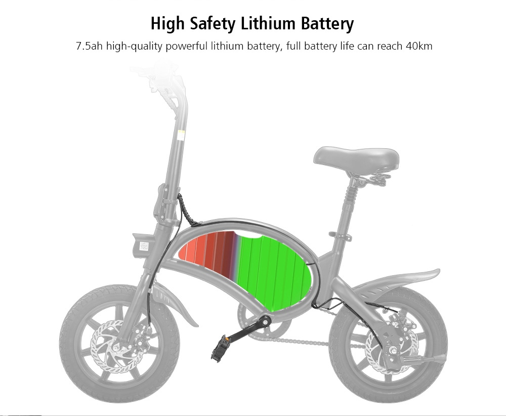 KUGOO Kirin B2 Folding Moped Electric Bike E-Scooter with Pedals 400W Brushless Motor Max Speed 45km/h 7.5AH Lithium Battery Disc Brake 14 Inch Pneumatic Tires Smart App Control - Black