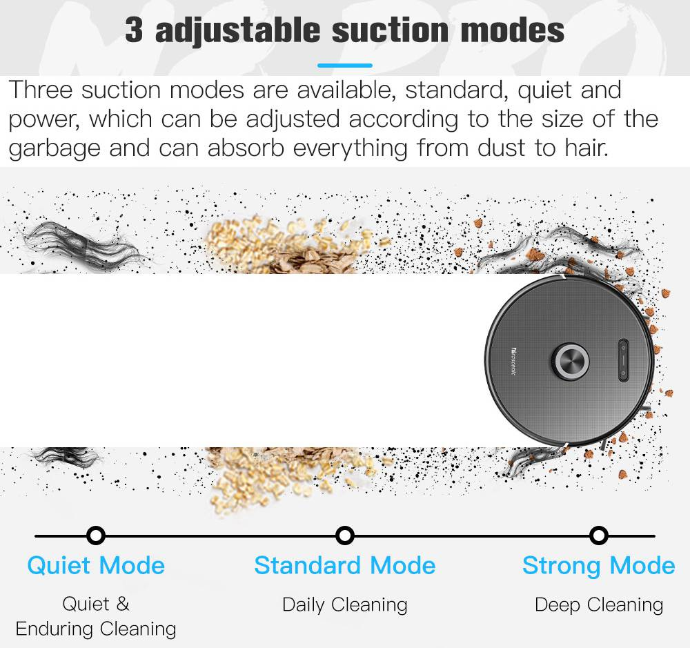 Proscenic M8 PRO Smart Vacuum Cleaner + Smart Dust Collector