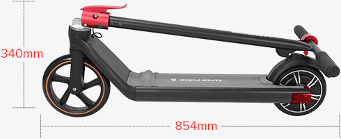 KUGOO KIRIN Mini 2 Folding Electric Scooter Gift for Kids 150W Brushless Motor Max 15 km/h 4AH Battery Front 8 Inch Rear 6.5 Inch Solid Tires 10~15km Max Range - Black