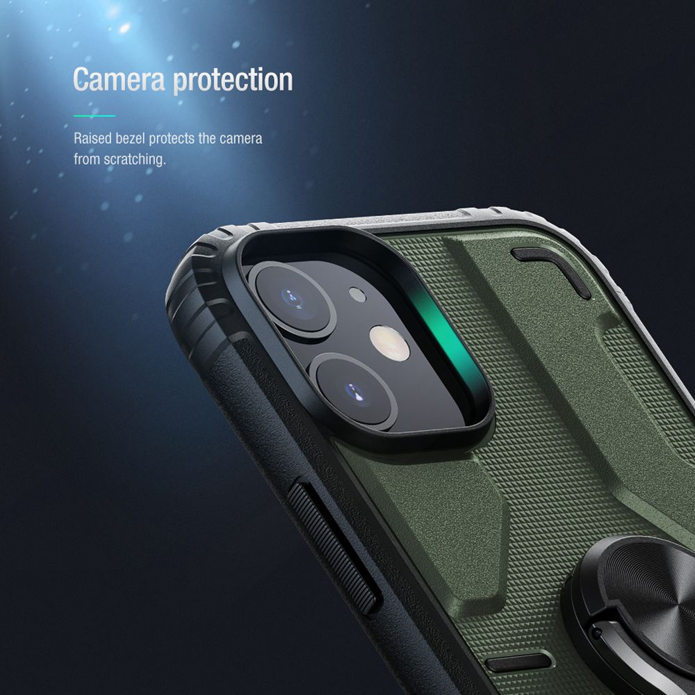 Assembled Stand Case Removable Stand Module Reliable Protection for Apple iPhone 12 Pro Mini - Green