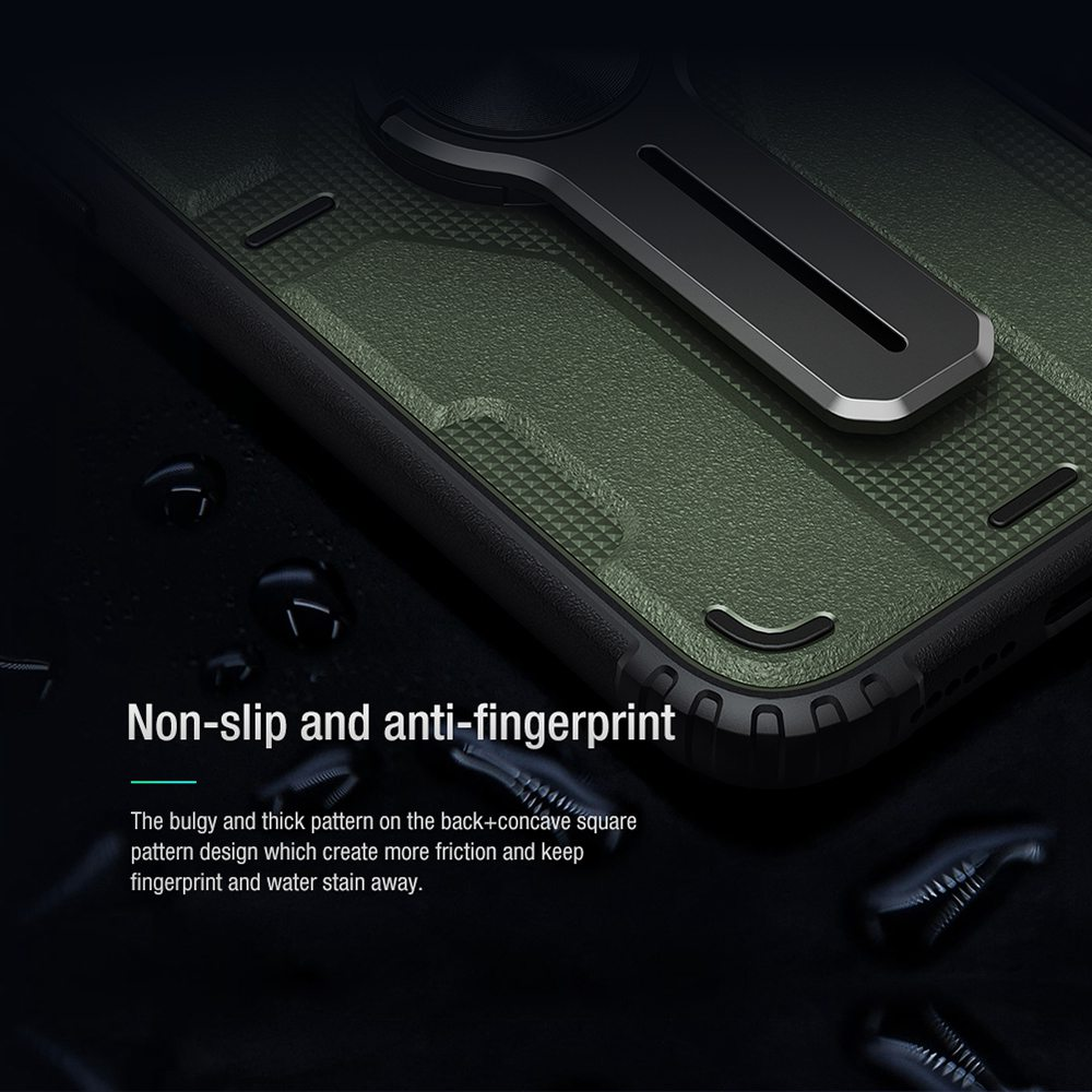 Assembled Stand Case Removable Stand Module Reliable Protection for Apple iPhone 12 Pro Max - Black