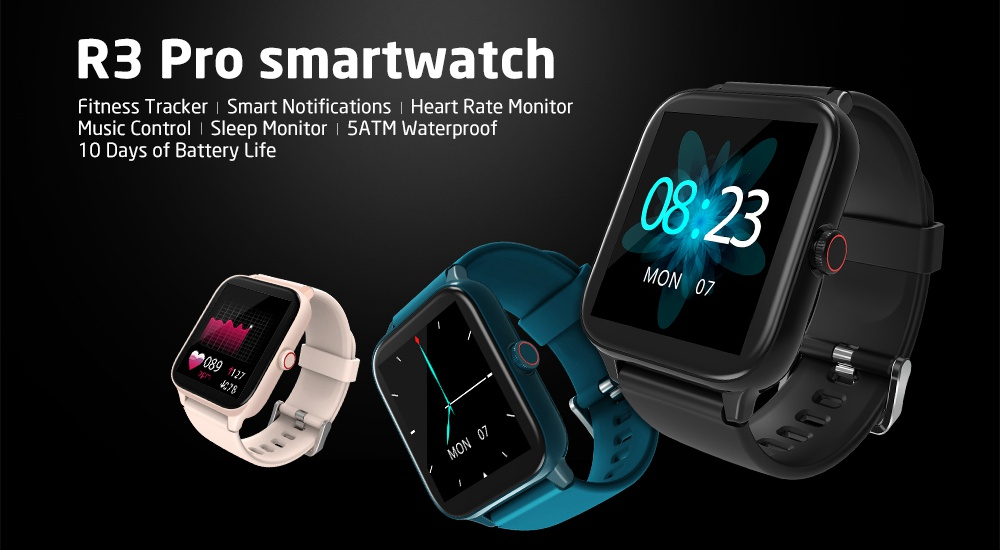 "Blackview R3 Pro Smartwatch 1.54"" TFT HD Round Screen Heart Rate Oximetry Monitoring Sleep Monitor 5ATM Sports Waterproof APP Supports Multiple Languages - Green"