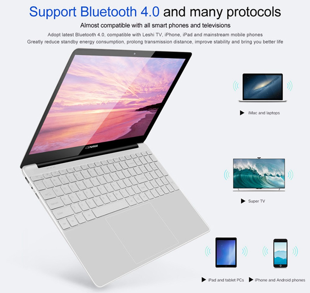 Cenava PA156G Laptop Intel Celeron J4125 15.6 Inch 1920*1080 Windows 10 8GB RAM 256GB SSD - Silver