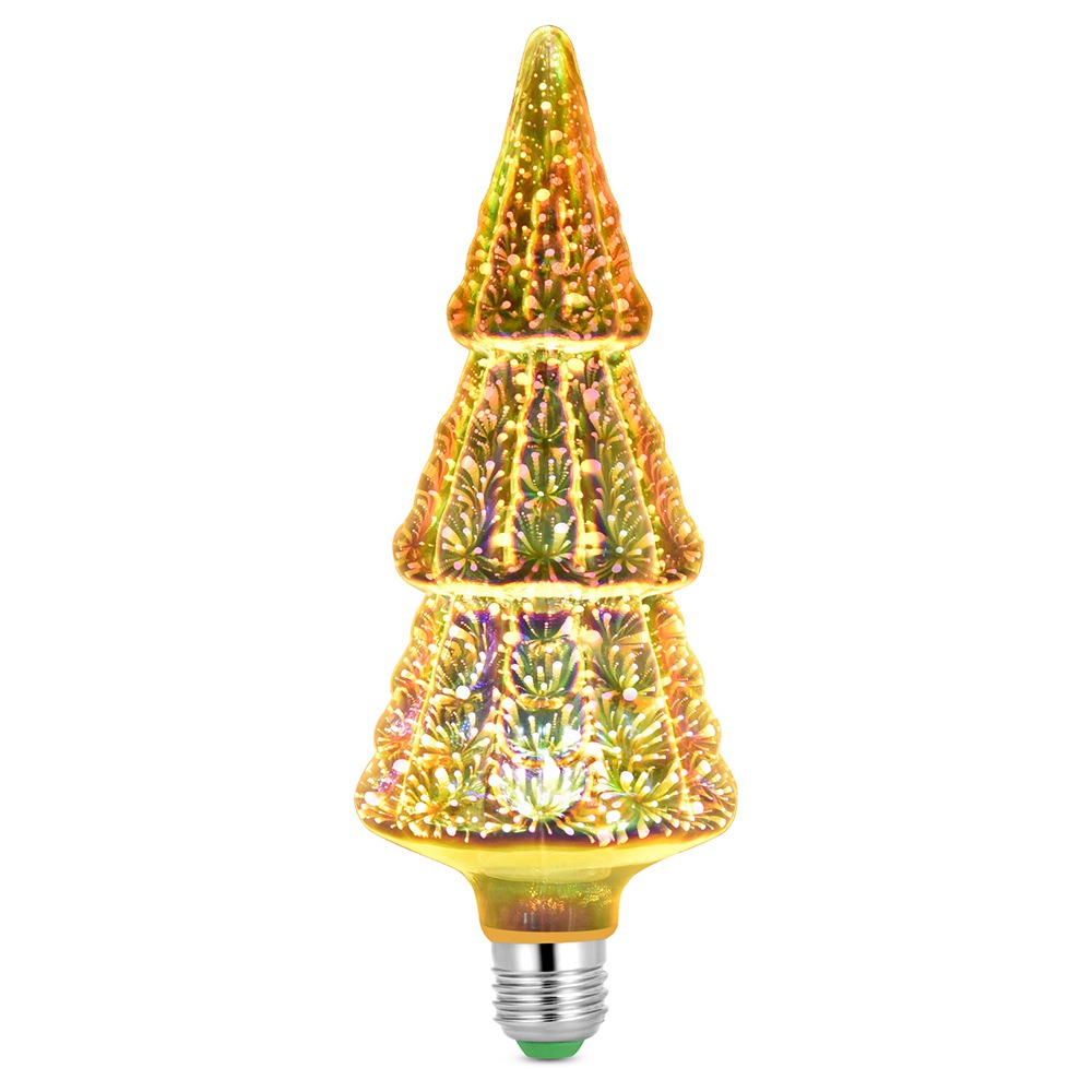 Christmas Tree Shape 3D Firework LED Bulb 6W Power For Christmas, Family, Bar, Cafe, Wedding Decoration - Colorful