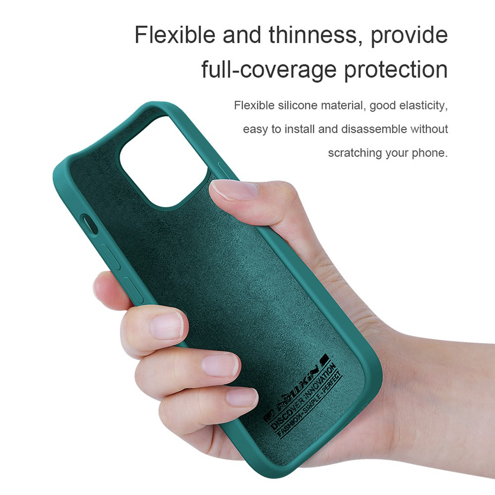 Liquid Silicone Rubber Flex Pure Case for Apple iPhone 12 Mini - Blue