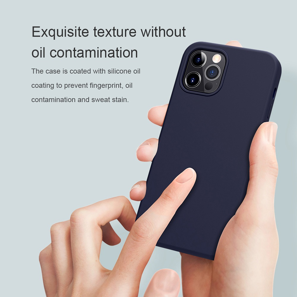 Liquid Silicone Rubber Flex Pure Case for Apple iPhone 12/12 Pro - Black