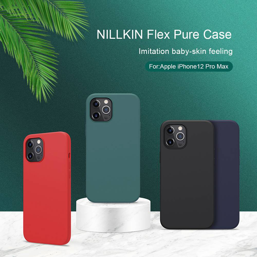 Liquid Silicone Rubber Flex Pure Case for Apple iPhone 12 Pro Max - Green