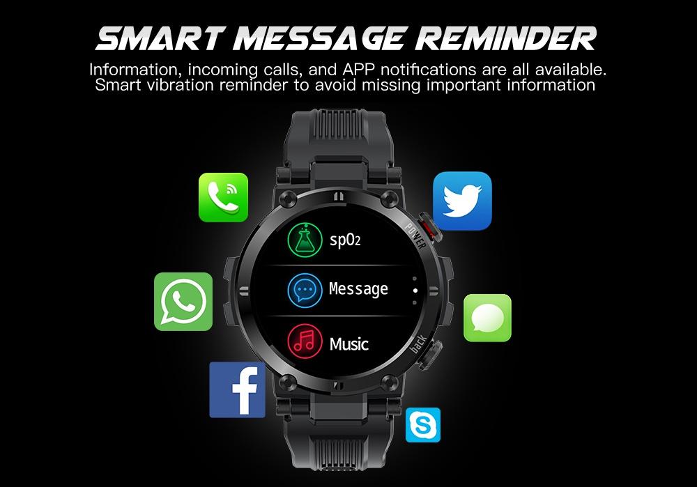 """Makibes D13 Smartwatch 1.3 """"TFT HD Πλήρης στρογγυλή οθόνη Παρακολούθηση καρδιακού ρυθμού Οξυμετρία Παρακολούθηση ύπνου IP68 Sports Αδιάβροχη εφαρμογή Υποστηρίζει πολλαπλές γλώσσες - Μπλε"""