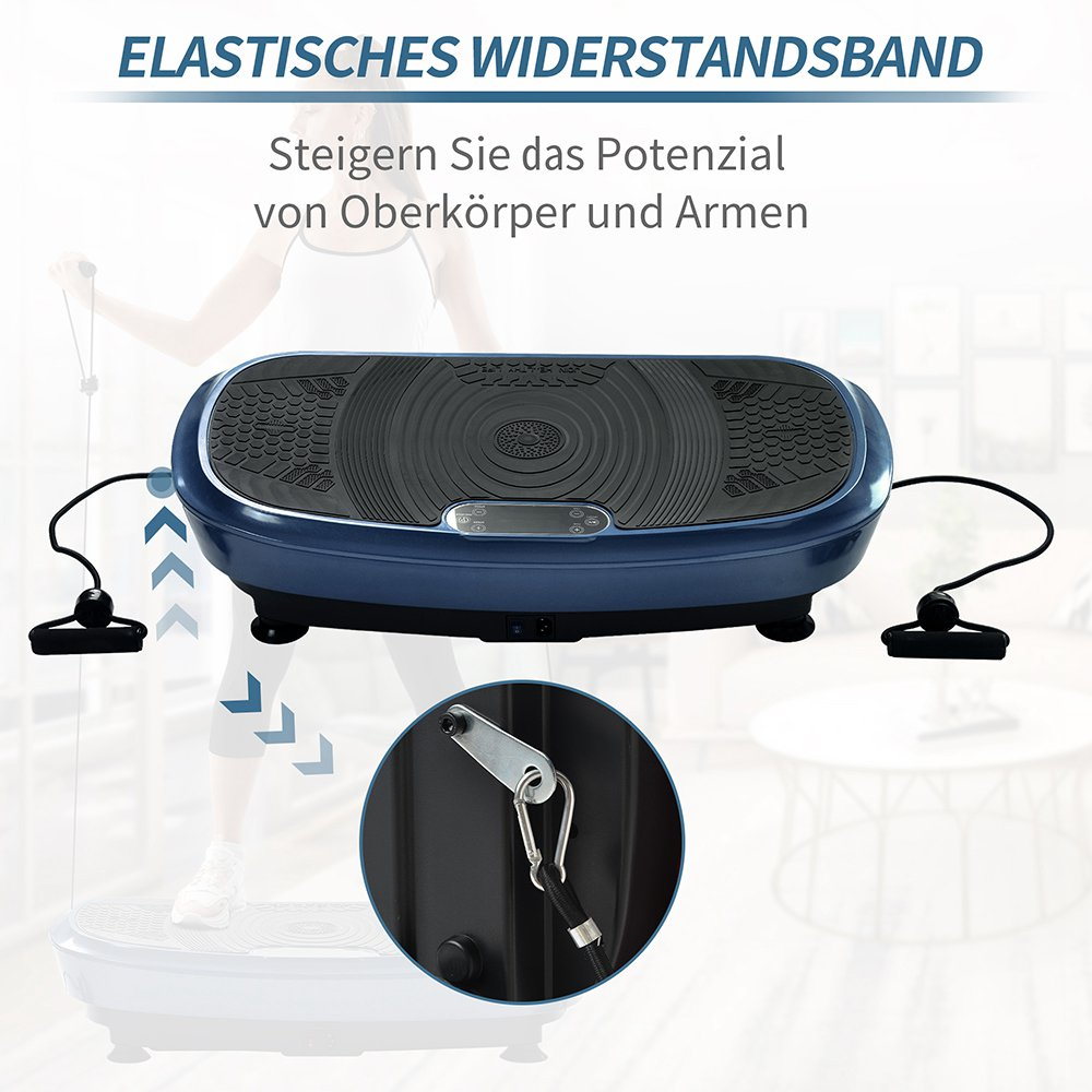 Merax Vibration Plate 3D Wipp Vibration Technology With Bluetooth Speaker - Blue