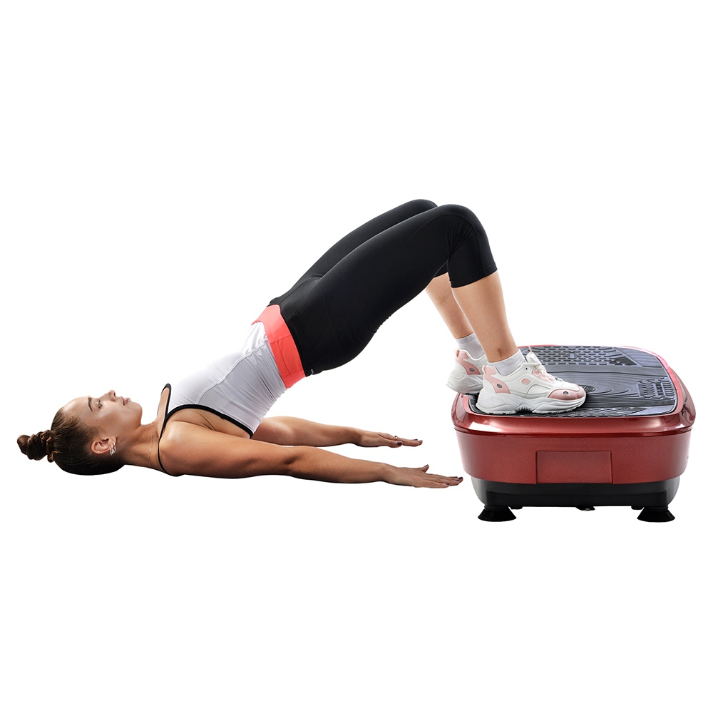 Merax Vibration Plate 3D Wipp Vibration Technology With Bluetooth Speaker - Red