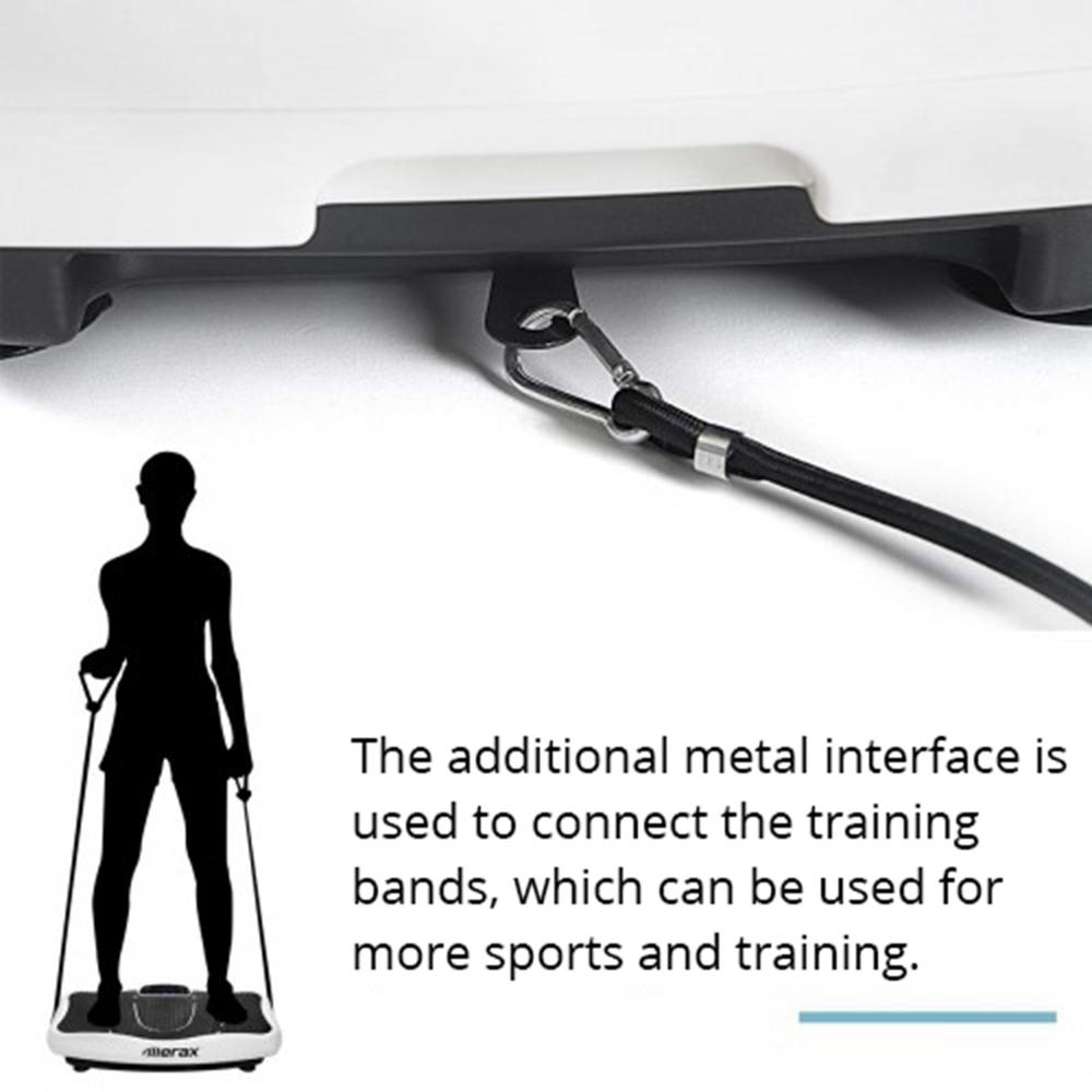 Merax Vibration Plate Lose Weight 2D Wipp Δόνηση Τεχνολογία Bluetooth Μουσική Εκπαίδευση Ιμάντες-Μαύρο