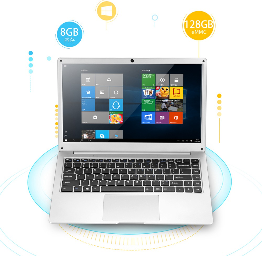 PIPO W14 Laptop 14 Inch Intel Apollo Lake N3450 1920*1080 FHD IPS 8GB RAM 128GB eMMC + 512GB SSD Windows 10 - Silver