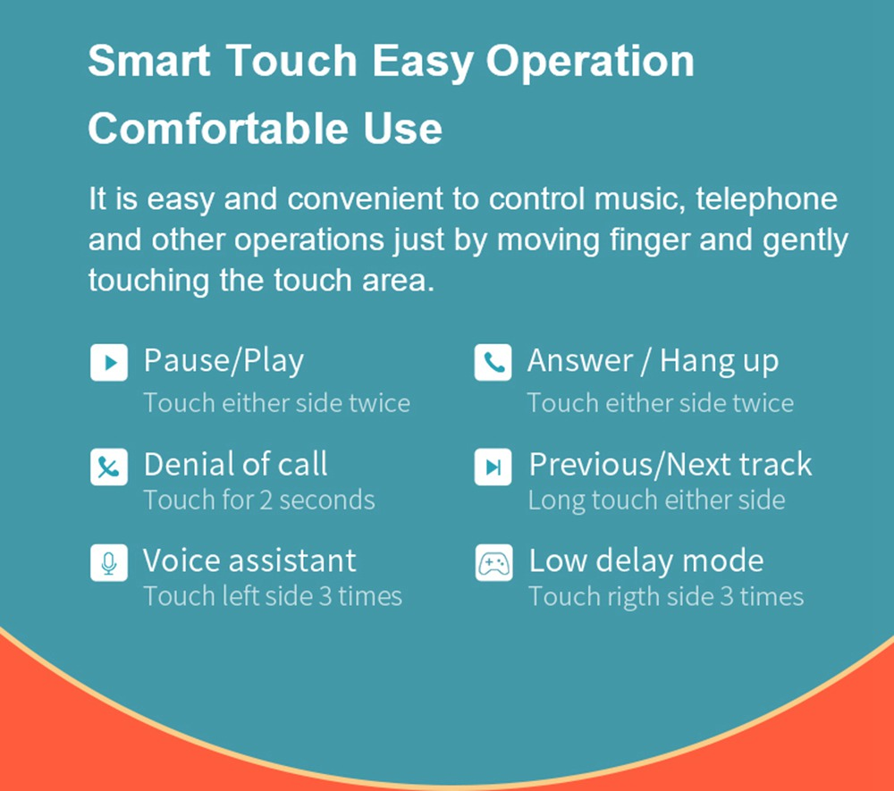 QCY T8 Bluetooth 5.0 TWS Gaming ακουστικά AAC SBC Type C APP Control Pop Up Pairing Voice Assistant