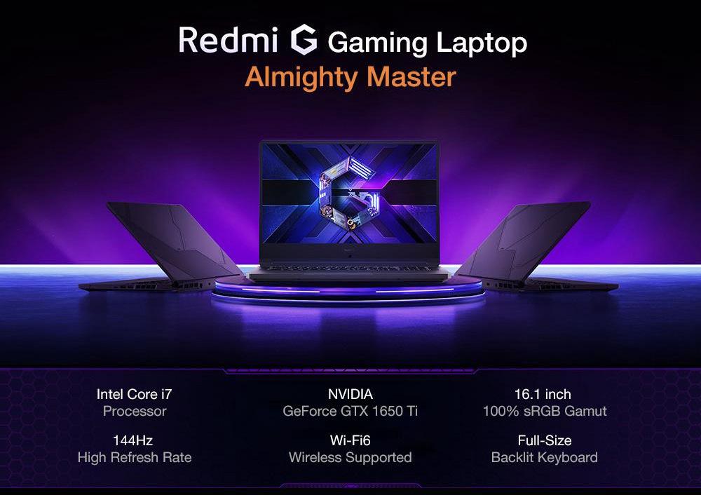 Xiaomi Redmi G Gaming Laptop I7 10750h 16gb 512gb Black