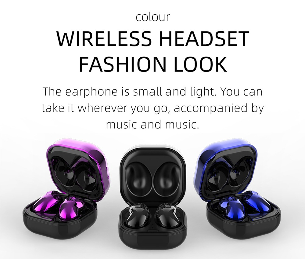 S6 Plus Bluetooth 5.1 TWS Earphones With LED Display JIELI 6963 - Black