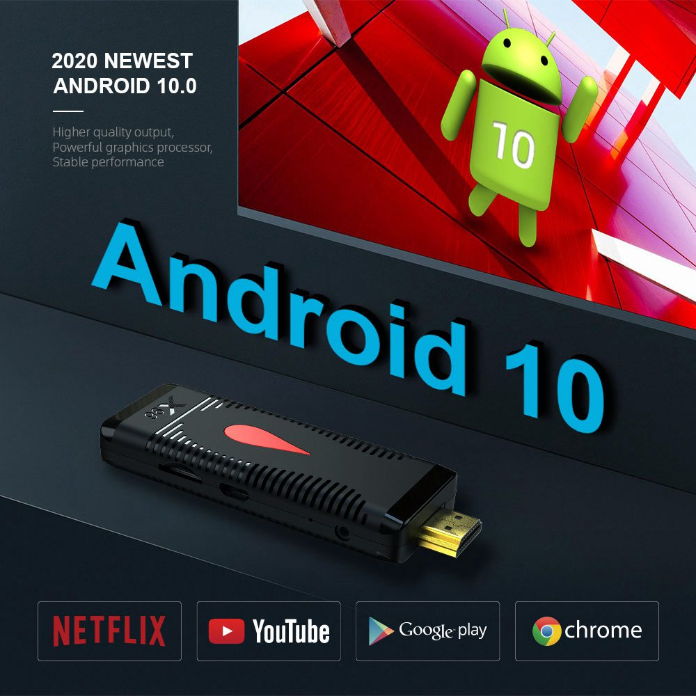 X96 S400 Allwinner H313 1GB/8GB 4K Android 10.0 TV Dongle H265 2.4G WIFI