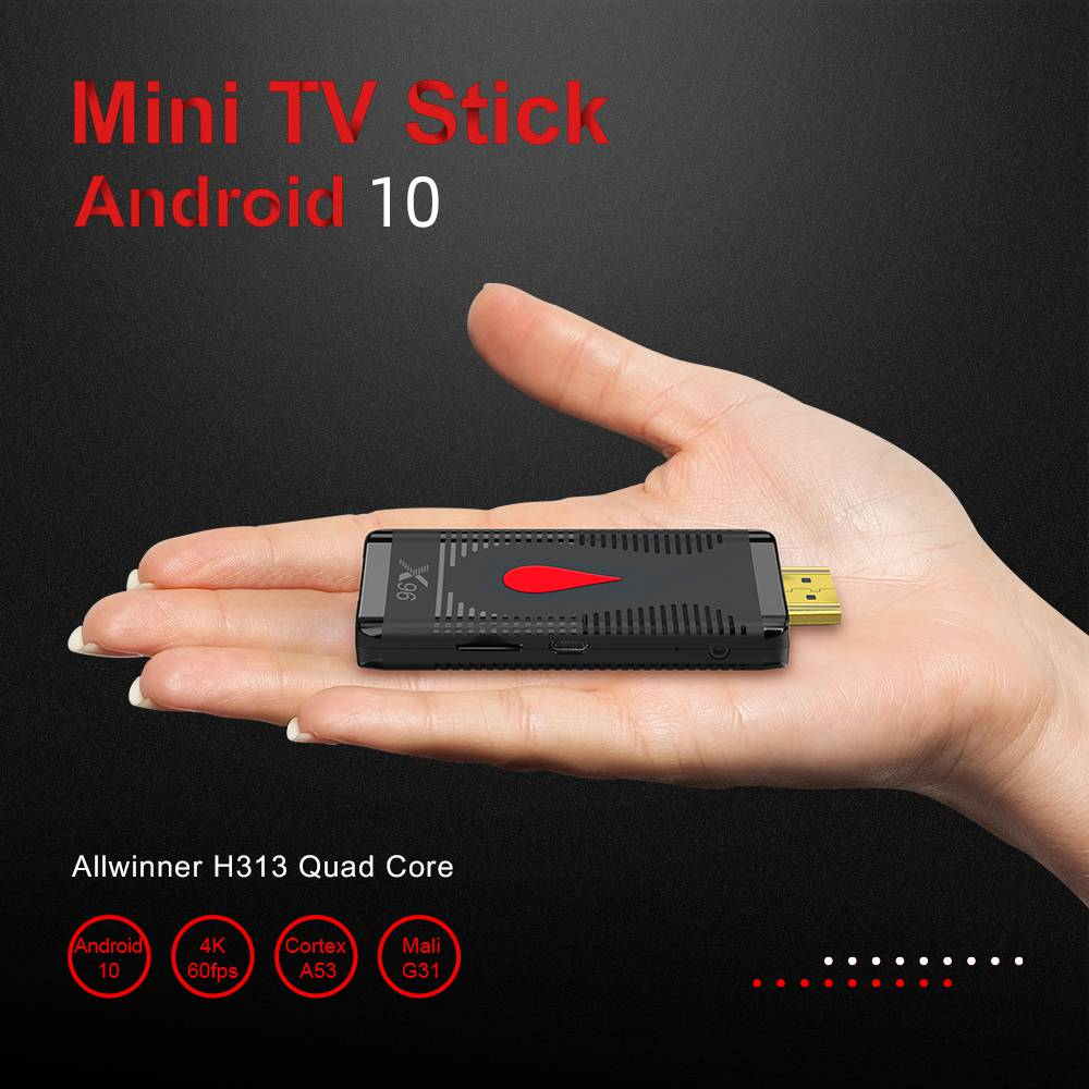X96 S400 Allwinner H313 2GB/16GB 4K Android 10.0 TV Dongle H265 2.4G WIFI