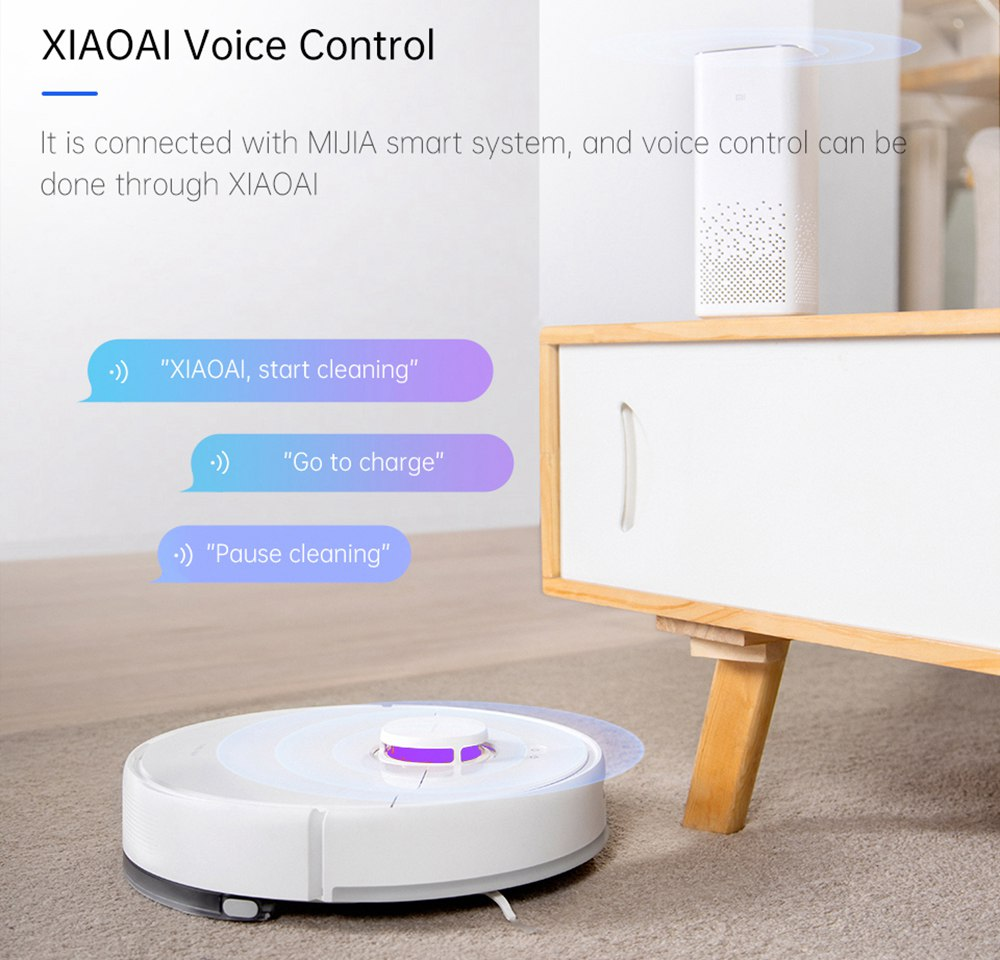 TROUVER Finder Robot Vacuum Cleaner with 5 Level Noise Reduction Integrated Sweeping and Mopping 2000Pa Powerful Suction LDS Laser Navigation 120 Mins Running Time 270ml Electric Water Tank 570ml Dust Box Mijia APP Control for Pets Hair, Carpets and Hard Floor
