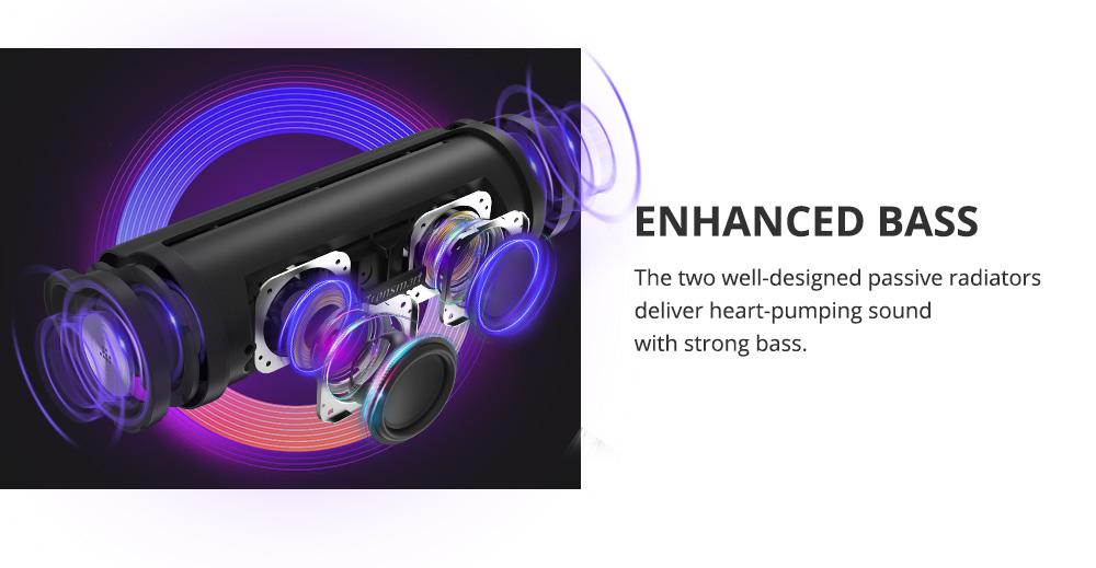 Haut-parleur portable Tronsmart Force 2 avec puce Qualcomm QCC3021, mode diffusion, sortie puissante de 30 W, haut-parleur étanche IPX7, plus de 15 heures de lecture, assistant vocal pratique, contrôle intelligent de l'application