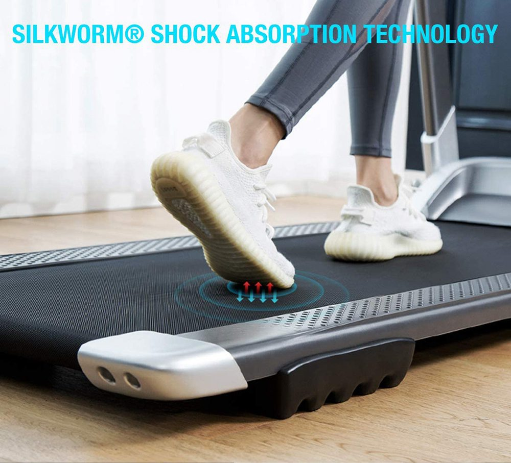 XQIAO OVICX Q2S Smart Folding Walking Machine Ultra-Thin Treadmill for Workout, Fitness Training Gym Equipment, Exercise Indoor & Outdoor With Smart Deceleration,  APP Control, LED Display - EU Version