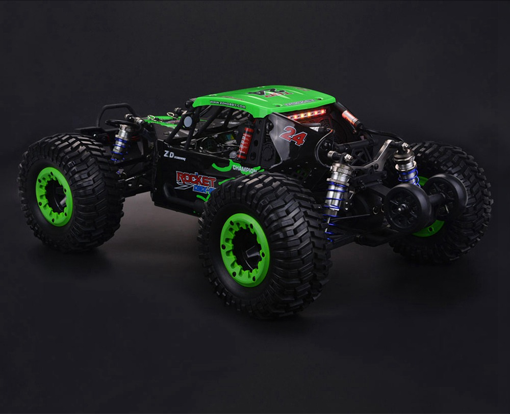 ZD Racing DBX-10 2.4G 1/10 4WD 80km/h Desert Truck Off Road Brushless RC Car - Green with Head Up Wheel