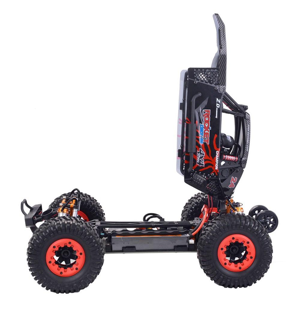 ZD Racing DBX-10 2.4G 1/10 4WD 80km / h Desert Truck Off Road Brushless RC Car - Rouge avec roue tête haute