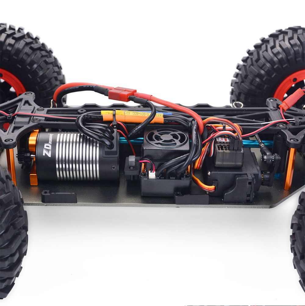 ZD Racing DBX-10 2.4G 1/10 4WD 80km/h Desert Truck Off Road Brushless RC Car - Red with Spare Tire