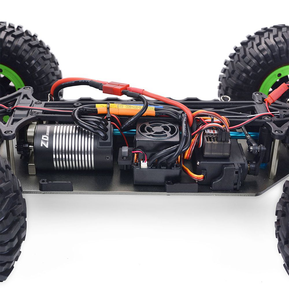 ZD Racing DBX-10 2.4G 1/10 4WD 80km / h Desert Truck Off Road Brushless RC Car - Vert avec aile arrière