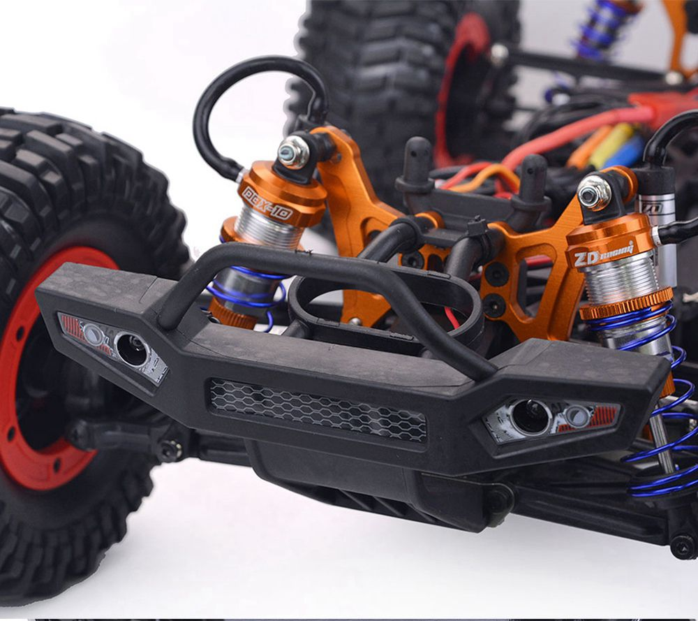 ZD Racing DBX-10 2.4G 1/10 4WD 80km/h Desert Truck Off Road Brushless RC Car - Red with Tail Wing