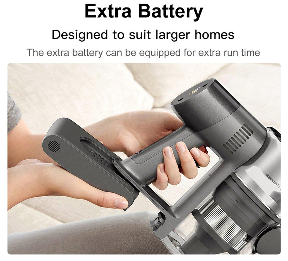 Dreame T20 Cordless Handheld Lightweight Vacuum Cleaner 25Kpa Powerful Suction 70 mins Runtime 5-stage Filtration System Cleaning Efficiency 99.97% Anti-tangling Hair with Colorful Screen for Carpet,Hard Floor,Car,and Pet EU Version - Gray