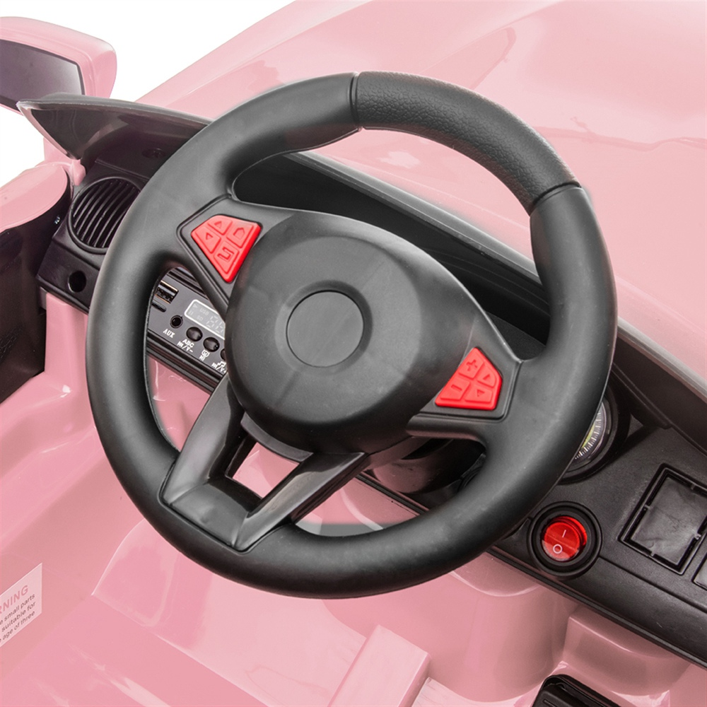 12V Kids Ride On Car 2.4GHZ Remote Control with LED Lights - Pink