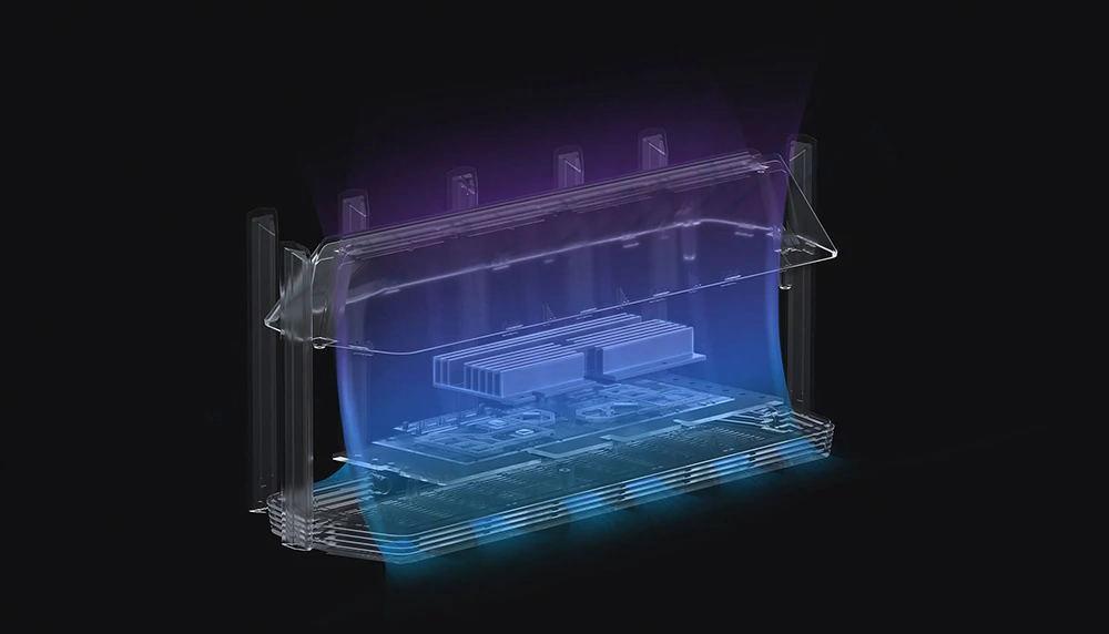 Xiaomi AIoT Router AX6000 WiFi 6 5961 Mbps 2.4GHz + 5GHz OFDMA MU-MIMO High Gain 7 Antennák 512MB memória - fekete