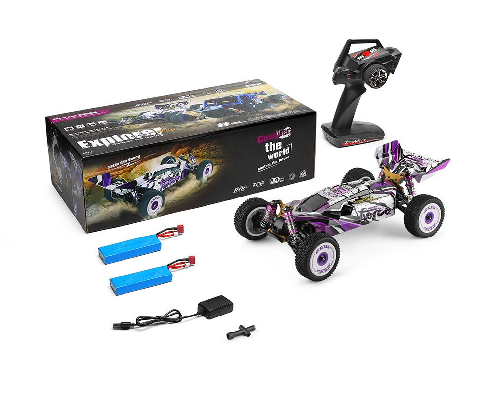 Wltoys 124019 1/12 2.4G 4WD 60km/h Metal Chassis Off-Road RC Car RTR - 2 Batteries Version