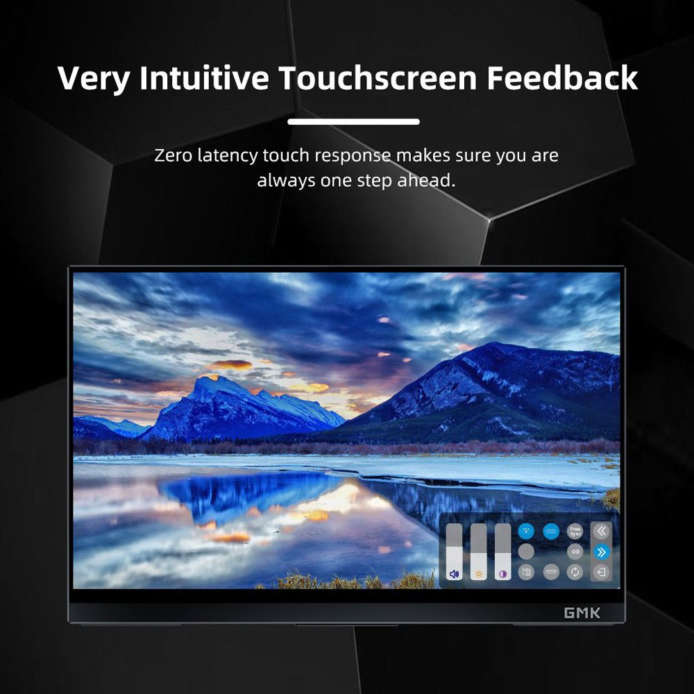 GMK KD1 14 inch portable monitor 4K UHD IPS touch screen 100% sRGB HDR Dual Type-C+Mini HDMI