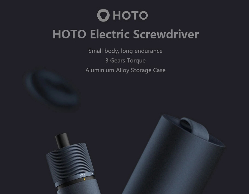 HOTO 1500mAh Electric Screwdriver Kit Rechargeable Screw Driver 12Pcs 50mm S2 Screw Bits