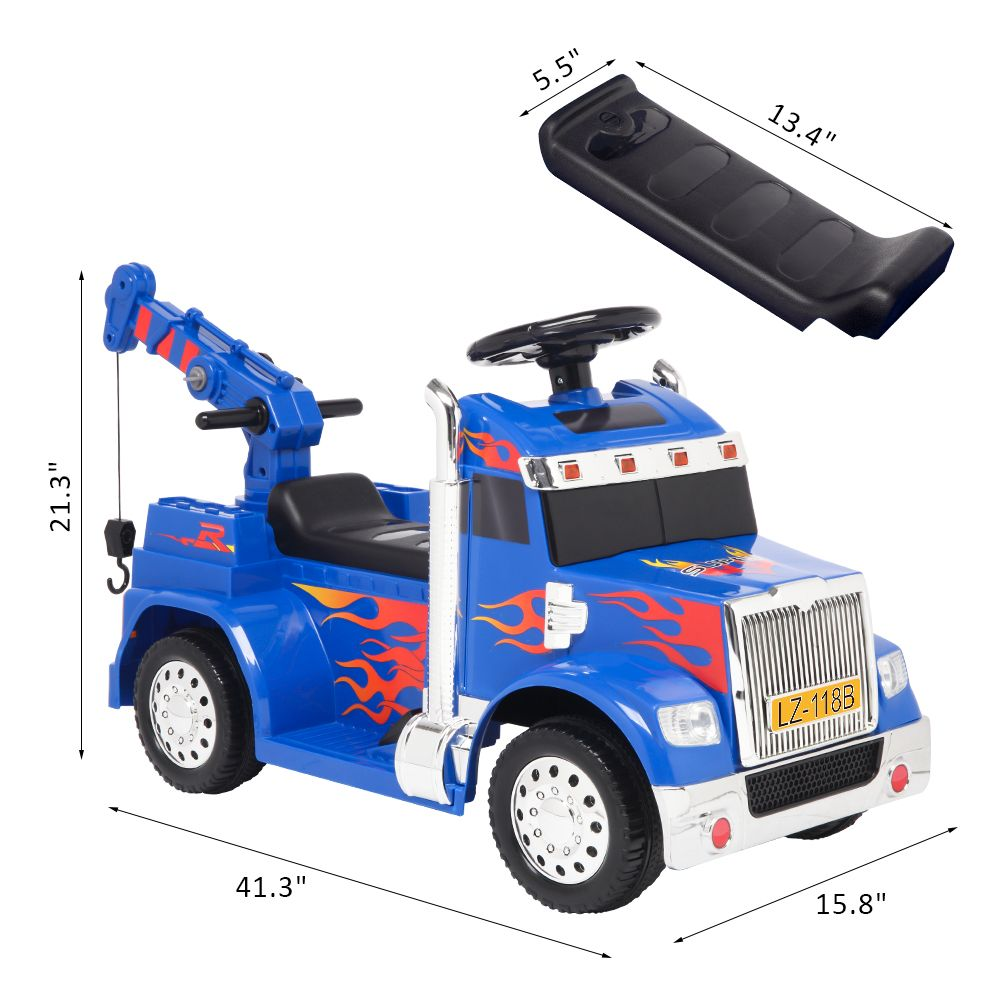 LEADZM LZ-118B Small Crane Single Drive 6V20W Battery 6V4.5AH * 1 with 2.4G Remote Control Music Board - Blue