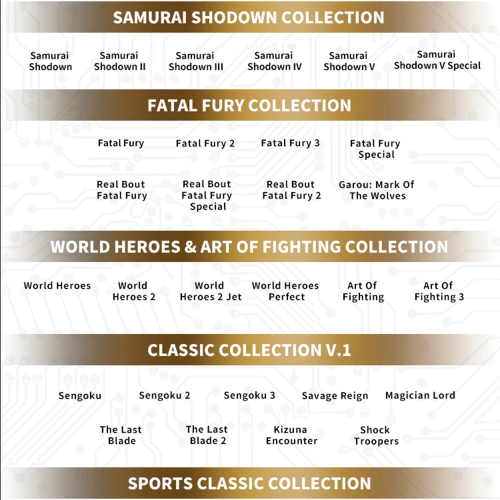 SNK MVSX Arcade Machine 50 SNK Classic-Spiele - Neo Geo Pocket