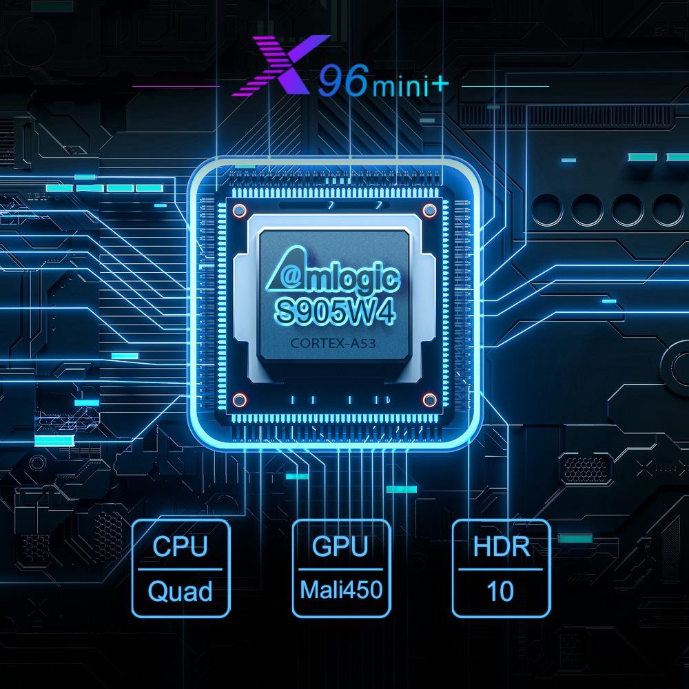 X96 MINI + TV BOX Android 9.0 Amlogic S905W4 2GB / 16GB 4K TV Box 2.4G + 5G WIFI LAN