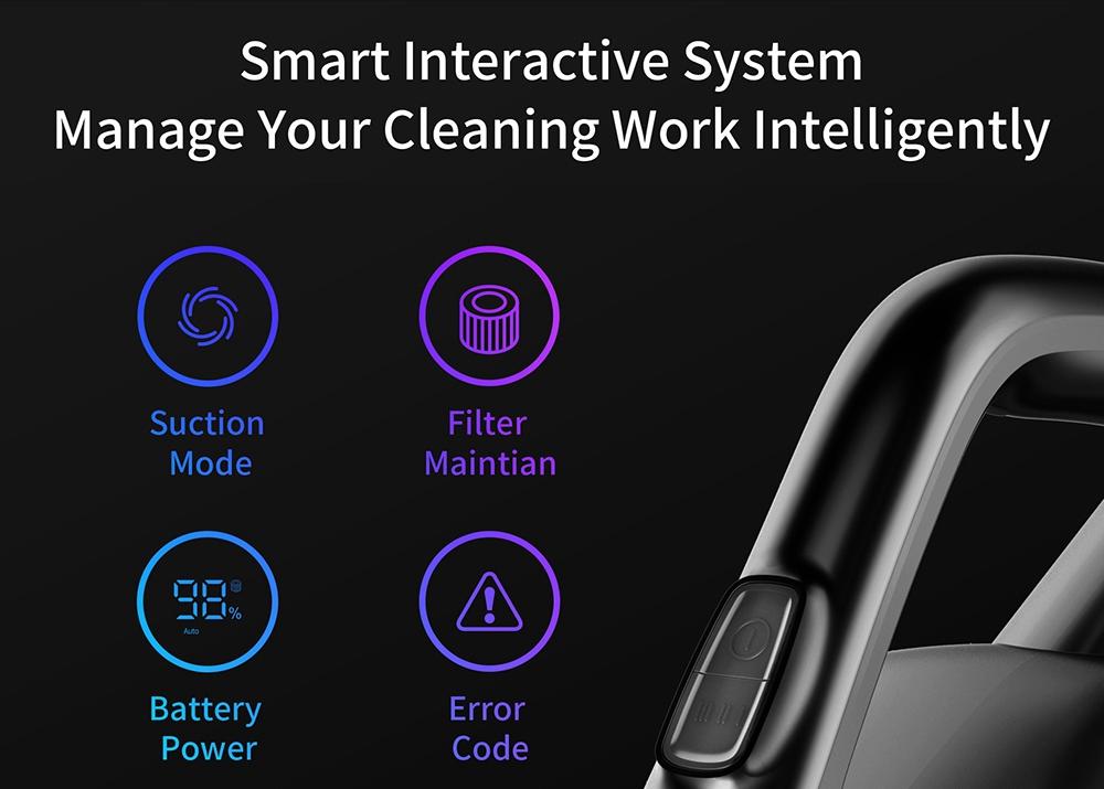 Aspirateur à main sans fil Xiaomi JIMMY H8 Pro Moteur 500W 160AW 25000Pa Aspiration forte 70 minutes Autonomie 3000 mAh Batterie au lithium Affichage LED Version globale - Violet