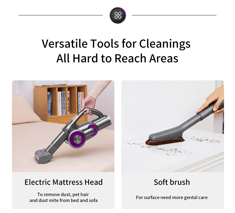 Xiaomi JIMMY H8 Pro Cordless Handheld Vacuum Cleaner 500W Motor 160AW 25000Pa Strong Suction 70 minutes Running Time 3000 mAh Lithium Battery LED Display Global Version - Purple