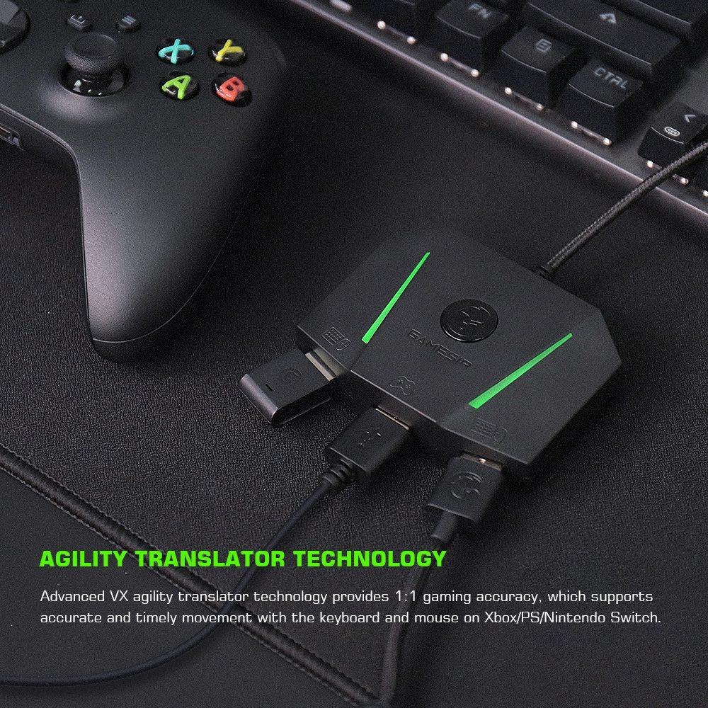 Adaptateur de console multi-plateforme GameSir VX AimBox réversible USB 2.0 Compatible avec Xbox One / X / S, PlayStation4 / 5, Nintendo Switch