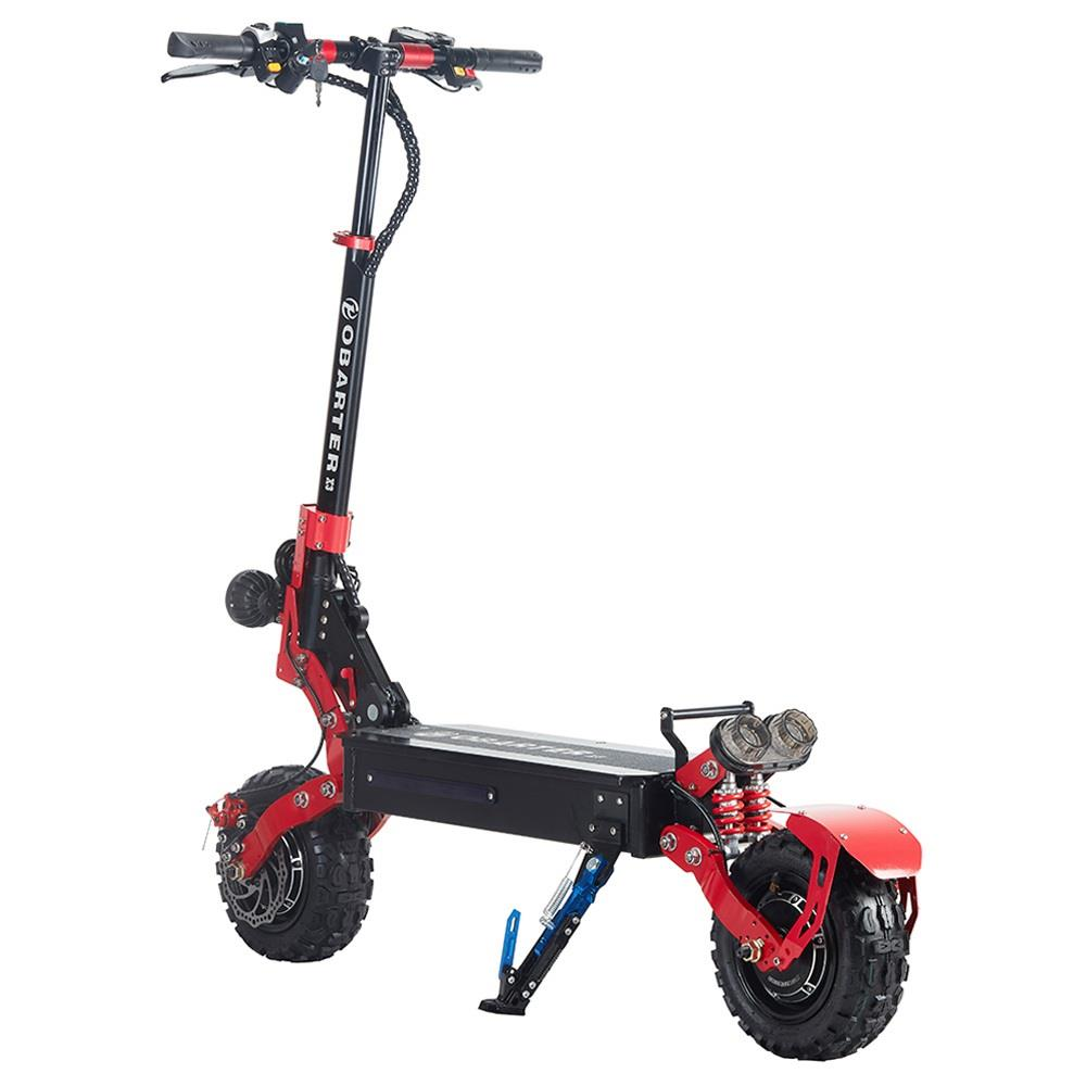 """OBARTER X3 Folding Electric Sport Scooter 11"""" Off-road tyre 800W Brushless Motor 48V 20Ah Battery BMS 3 Speed Modes Dual Disc Brake Max Speed 65KM/h LED Display 40-50KM Long Range - Black"""