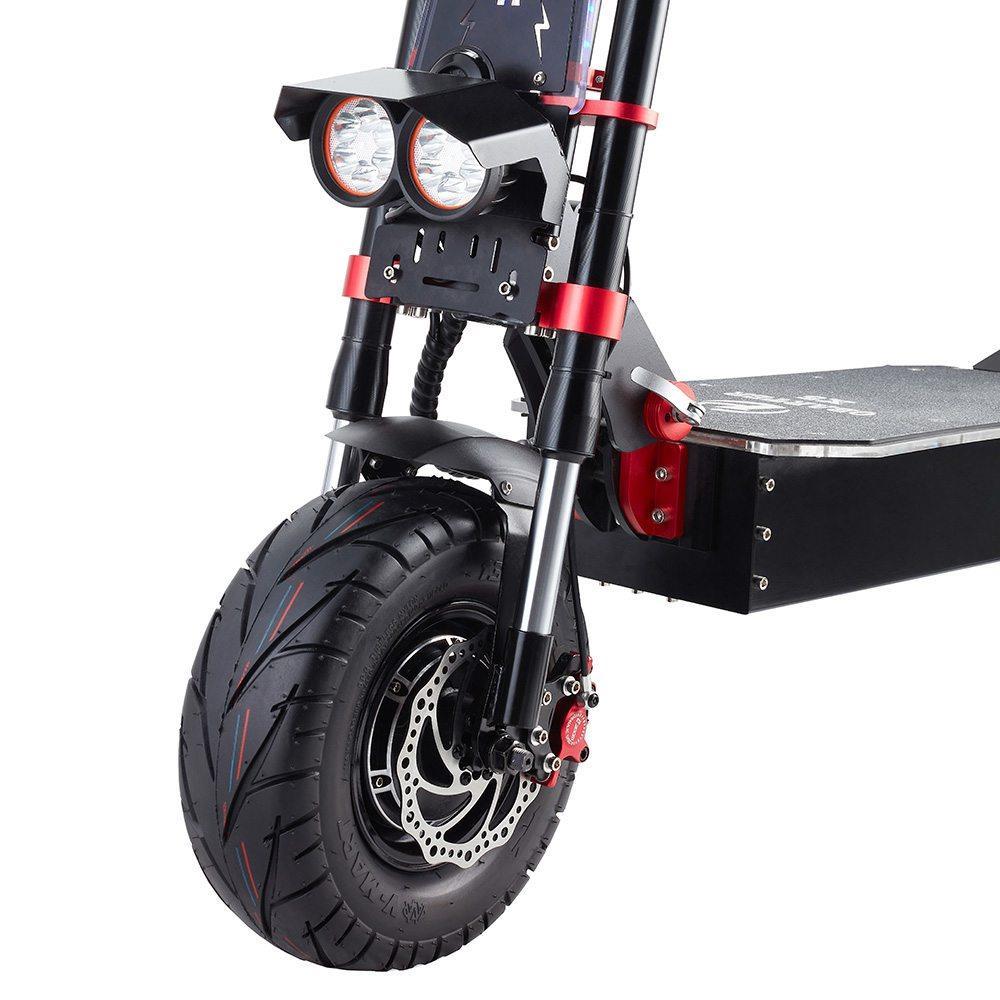 "OBARTER X5 Folding Electric Sport Scooter 13"" Off-road tyre 800W Brushless Motor 60V 30Ah Battery BMS 3 Speed Modes Oil Disc Brake Max Speed 85KM/h LED Display 120KM Long Range - Black"